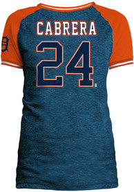 Miguel Cabrera Detroit Tigers Womens Navy Blue Opening Night Player Tee
