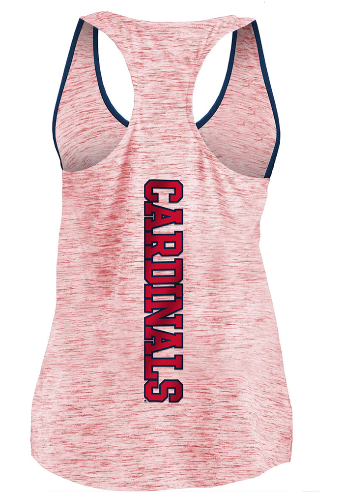 St Louis Cardinals Womens Red Novelty Space Dye Racerback Tank Top - Image 2