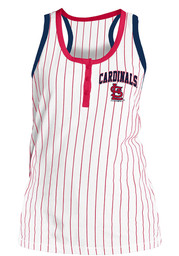 St Louis Cardinals Womens Opening Night Racer Back Tank Top - White