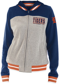 Detroit Tigers Womens Opening Night French Terry Full Zip Jacket - Grey