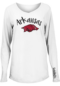 Arkansas Razorbacks Womens Timeless Dana T-Shirt - White