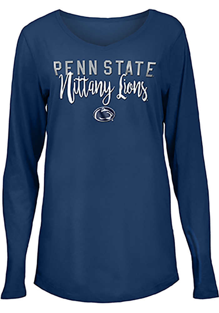 Penn State Nittany Lions Womens Navy Blue Timeless Taylor LS Tee - Image 1