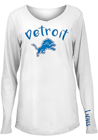 Detroit Lions Womens Timeless Dana T-Shirt - White