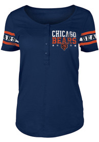 Chicago Bears Womens Athletic T-Shirt - Navy Blue