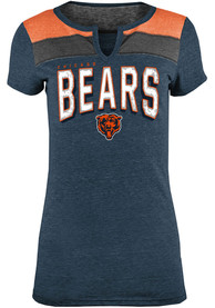 Chicago Bears Womens Triblend T-Shirt - Navy Blue
