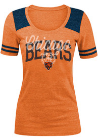 Chicago Bears Womens Clear Flake T-Shirt - Orange