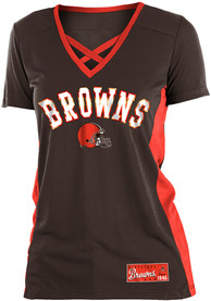 Cleveland Browns Womens Brown Training Camp T-Shirt