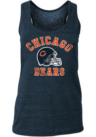 Chicago Bears Womens Triblend Racerback Tank Top - Navy Blue