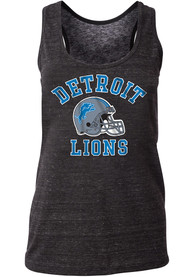 Detroit Lions Womens Triblend Racerback Tank Top - Black