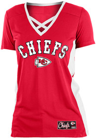 sports shoes 35aed d8e19 Kansas City Chiefs Womens Training Camp Fashion Football Jersey - Red