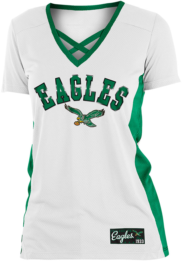 uk availability 55cdf 45ffb Philadelphia Eagles Womens Training Camp Fashion Football Jersey - White