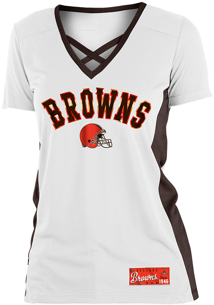 Cleveland Browns Womens Training Camp Fashion Football Jersey White 88883249