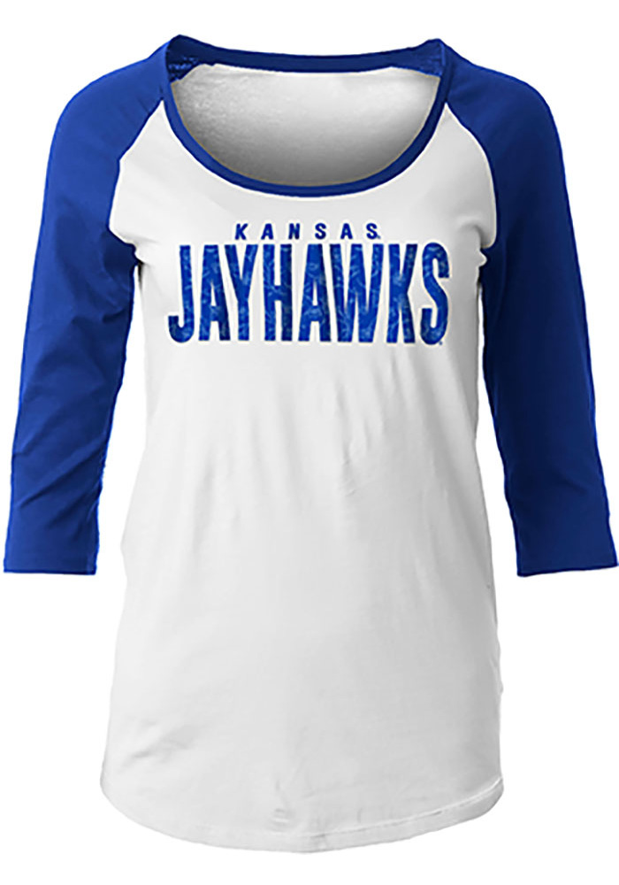 Kansas Jayhawks Womens Floral T-Shirt - White