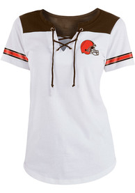3cd35800 Cleveland Browns Womens White Athletic T-Shirt