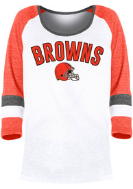 Cleveland Browns Womens Triblend T-Shirt - White