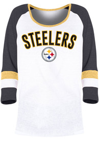 Pittsburgh Steelers Womens Triblend T-Shirt - White