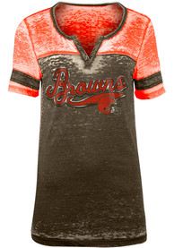 Cleveland Browns Womens Washes T-Shirt - Brown