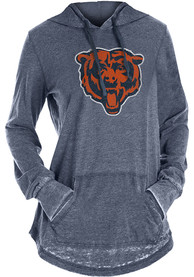 Chicago Bears Womens Washes Hooded Sweatshirt - Navy Blue