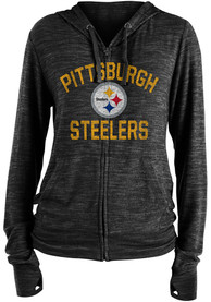 Pittsburgh Steelers Womens Novelty Full Zip Jacket - Black