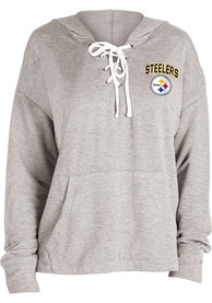 Pittsburgh Steelers Womens Novelty Hooded Sweatshirt - Grey