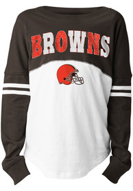 Cleveland Browns Girls Varsity Long Sleeve T-shirt - Brown