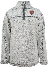 Chicago Bears Womens Sherpa 1/4 Zip Pullover - Grey