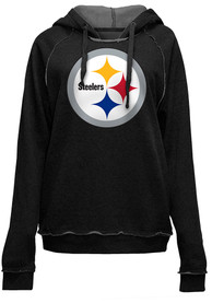 Pittsburgh Steelers Womens Primary Logo Brushed Fleece Hooded Sweatshirt - Black