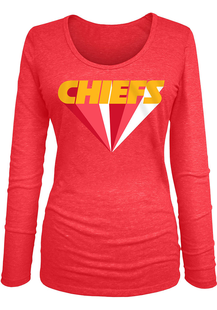 Kansas City Chiefs Womens Far Out LS Tee - Image 1