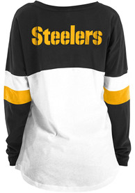 Pittsburgh Steelers Womens Athletic White LS Tee