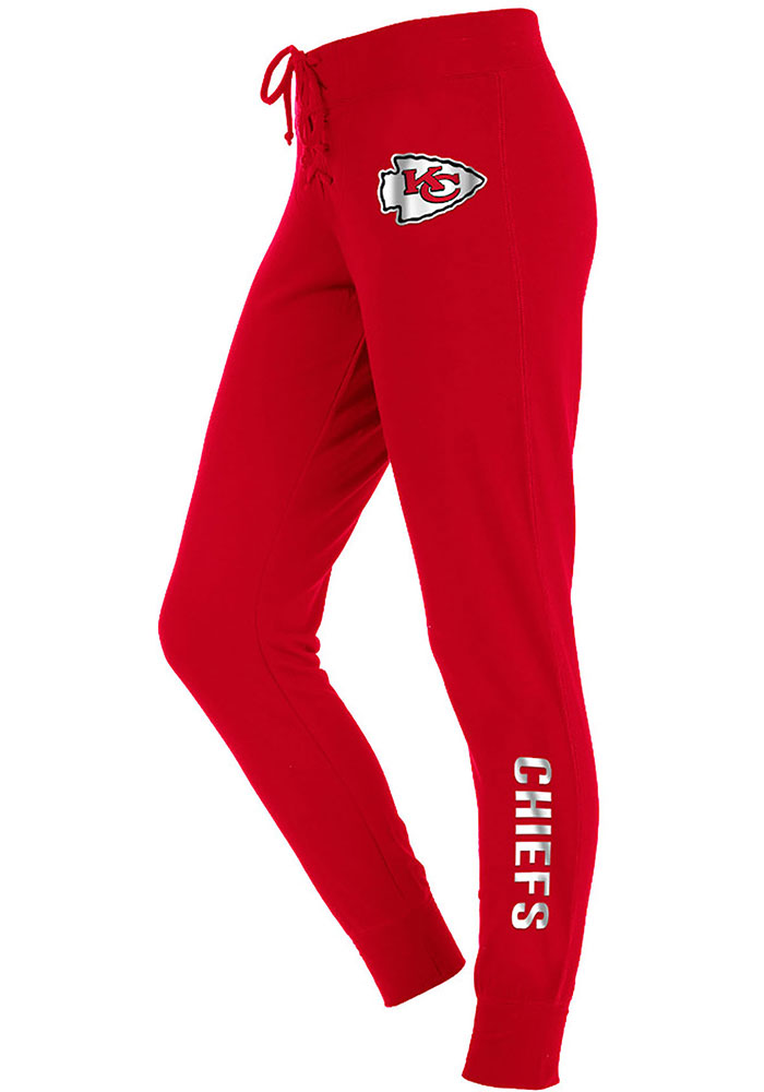 Kansas City Chiefs Womens Jogger Red Sweatpants - Image 1