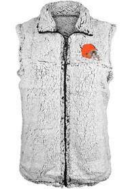 Cleveland Browns Womens Sherpa Vest - Grey