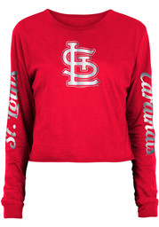 St Louis Cardinals Womens Athletic T-Shirt - Red