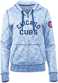 Chicago Cubs Womens Novelty Space Dye Full Zip Jacket - Blue