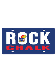 Kansas Jayhawks Rock Chalk Blue Car Accessory License Plate