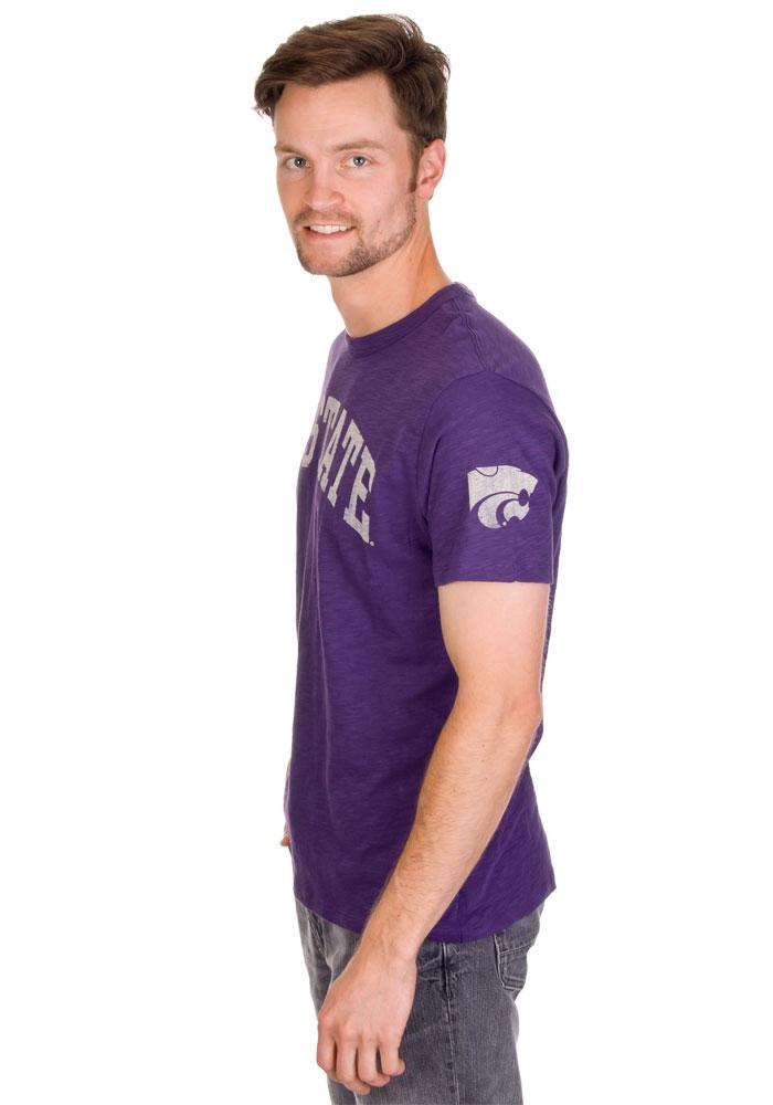 '47 K-State Wildcats Mens Purple Arch Short Sleeve Fashion T Shirt - Image 2