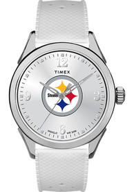 Pittsburgh Steelers Womens Timex Athena Watch - White