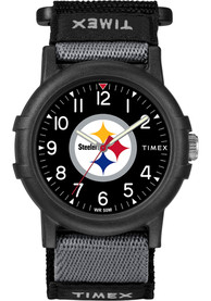 Pittsburgh Steelers Youth Timex Recruit Watch - Black