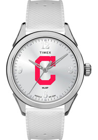 Cleveland Indians Womens Timex Athena Watch - White