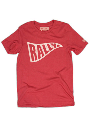 RALLY Pennant Red Unisex Short Sleeve Tee