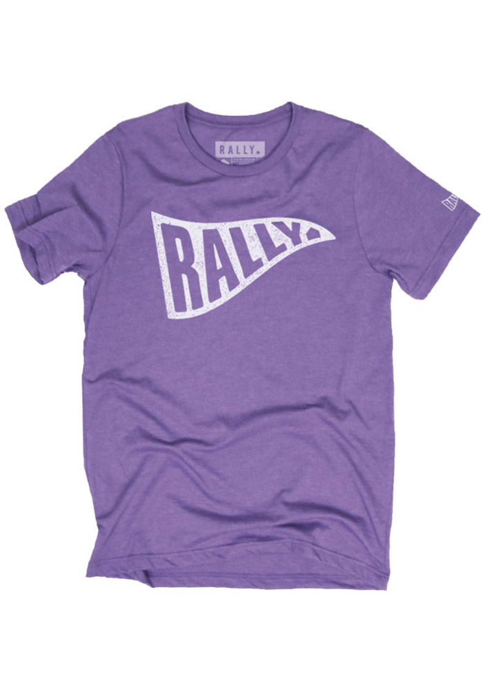 Rally Purple Pennant Short Sleeve T Shirt - Image 1