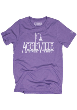 Rally House Mens Purple Aggieville Lamp Fashion Tee