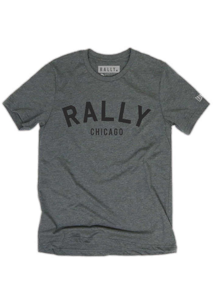 Rally Chicago Grey Arch Short Sleeve T Shirt - Image 1