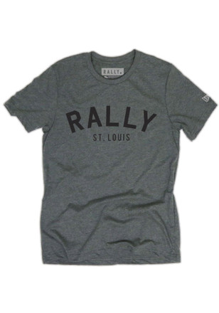 RALLY St. Louis Local Stuff Shop Mens Grey Arch Fashion Tee