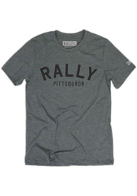 Rally Pittsburgh Grey Arch Short Sleeve T Shirt