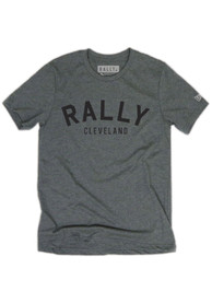Rally Cleveland Grey Arch Short Sleeve T Shirt