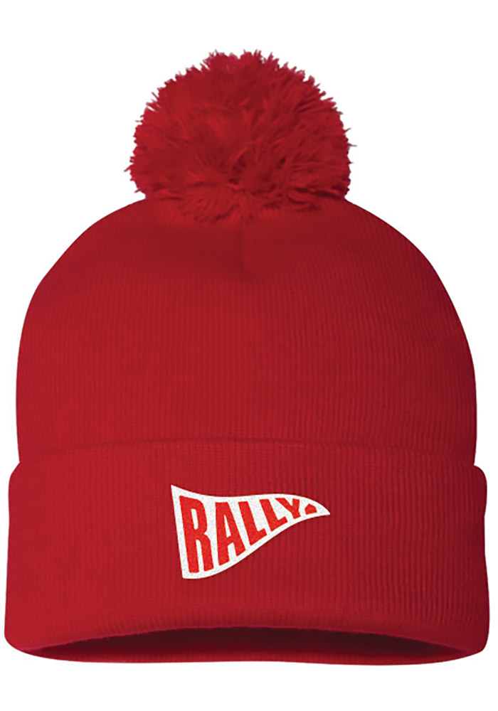Rally Red Pennant Mens Knit Hat - Image 1