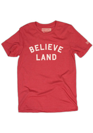Rally House Mens Red Cleveland Believe Fashion Tee