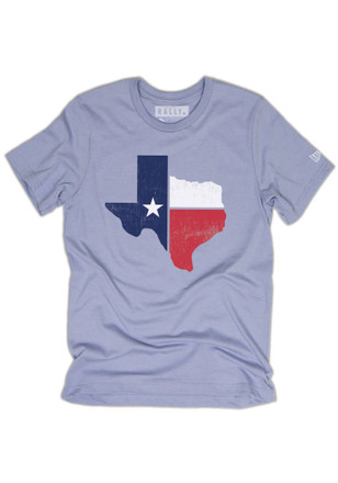 Rally House Mens Light Blue Texas Flag State Fashion Tee
