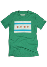 Rally Chicago Green City Flag Short Sleeve T Shirt