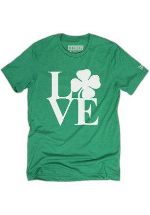 RALLY Philadelphia Local Stuff Shop Mens Green Philly Love Fashion Tee
